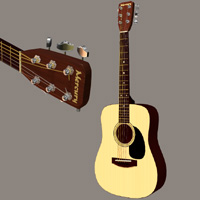 Free Acoustic guitar by Zippo_